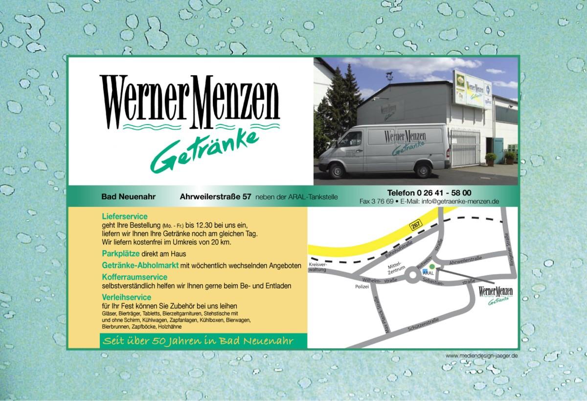 Wilkommen bei Getränke Werner Menzen